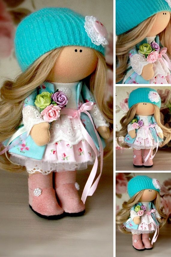 Baby doll Winter doll Christmas doll Handmade by AnnKirillartPlace
