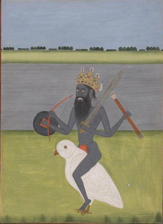 Smith-Lesouëf (oriental) 243, f. 10 (Shiva-Bhairava riding an owl). India, 18th century