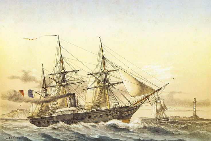 Steam frigate Descartes off Sevastopol.