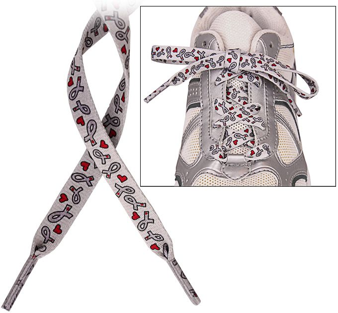 Diabetes Awareness Ribbon Shoelaces at The Animal Rescue Site