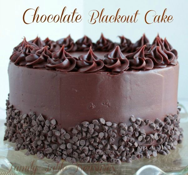 Three Layer Chocolate Cake With Blackout Filling