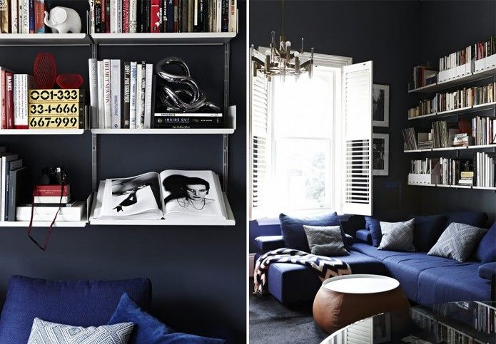 Black and cobalt blue living room homes offices co pinterest