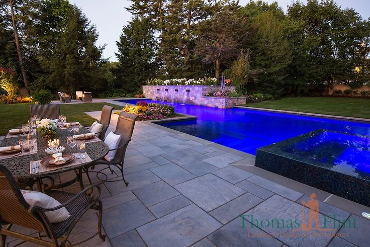 Get ready to be the neighborhood's favorite entertainer.  Contact us online or by phone for a free consultation and estimate.  http://thomasflintlandscape.com/ Photography by Adam Pass | Styling by Sheila Clark #luxurypool #custompool #newjersey #eastcoast #landscape #contractor #lifegoals #outdoors #pool #inspiration #ideas #bonfire #outdoorkitchen #bergencounty #bergencountynj #ridgewoodnj #frankinlakesnj #mahwahnj #allendalenj #ramseynj #kinnelonnj #chathamnj #uppersaddlerivernj…