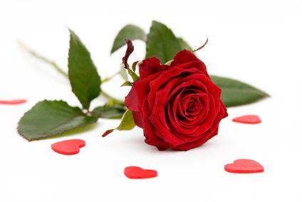 une rose | Pour envoyer la carte image une rose rouge et des coeurs. , choisissez ...
