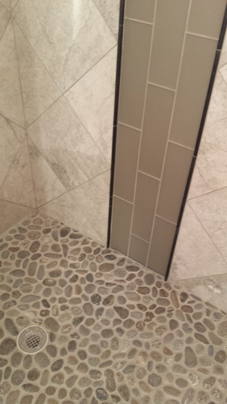 Amazing Taupe And Cream Bathroom Shower Tile  Home Plans  Pinterest