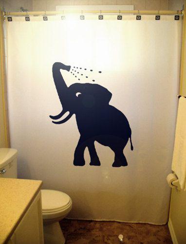 Zwem Baby olifant douche gordijn badkamer door CustomShowerCurtains