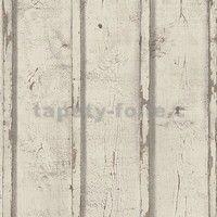Vliesové tapety na zeď Wood n Stone desky dřevěné hnědé