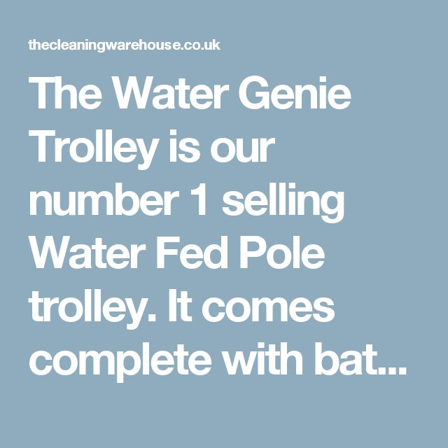 The Water Genie Trolley is our number 1 selling Water Fed Pole trolley. It comes complete with battery, pump controller and much more!