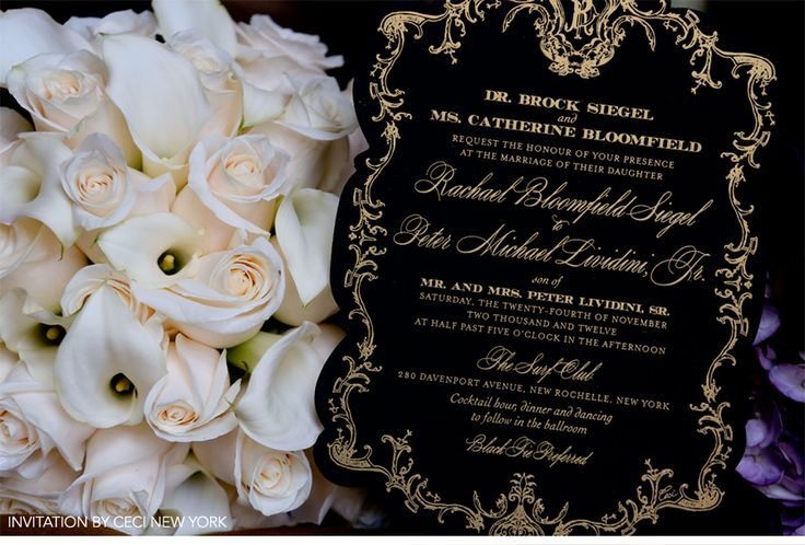 Our Muse - Opulent Baroque Wedding - Be inspired by Rachael and Peter's opulent, black-and-gold wedding - ceci new york, wedding