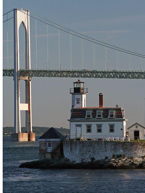 Rose Island Light RI   #VisitRhodeIsland  #lighthouses