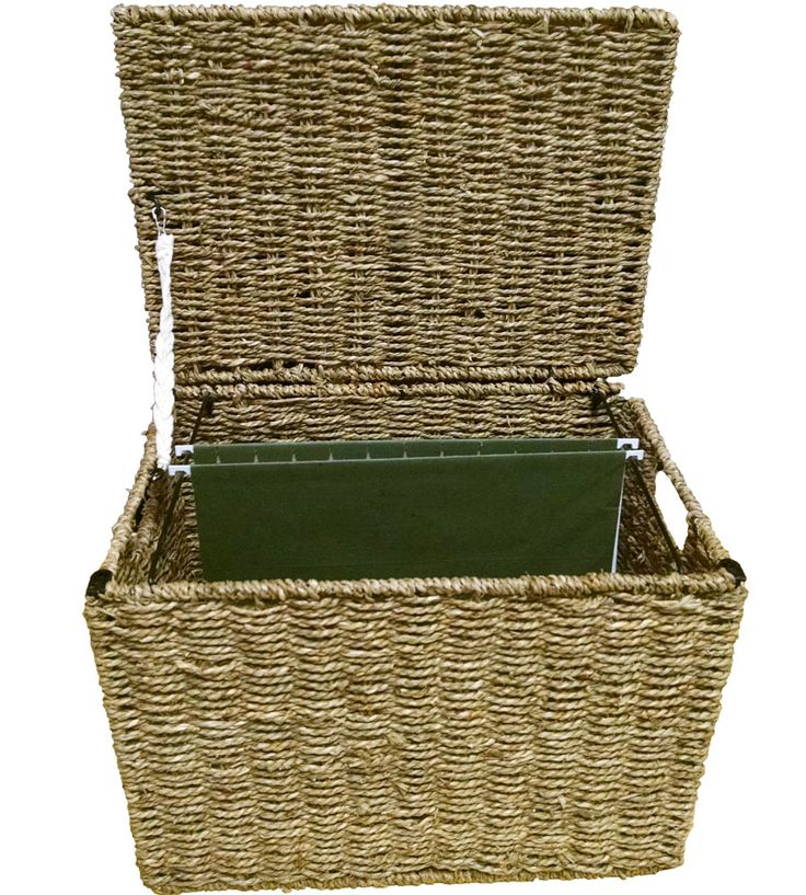 protect and store documents in the office with this wicker hanging file box which features a protective lid and built in side handles boxes stack office file