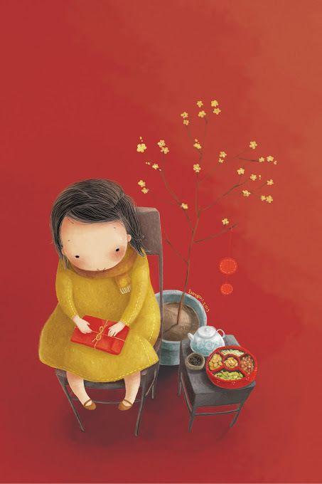 Thai My Phuong is a Vietnamese artist who creates sweet and romantic illustrations | tamypu.deviantart