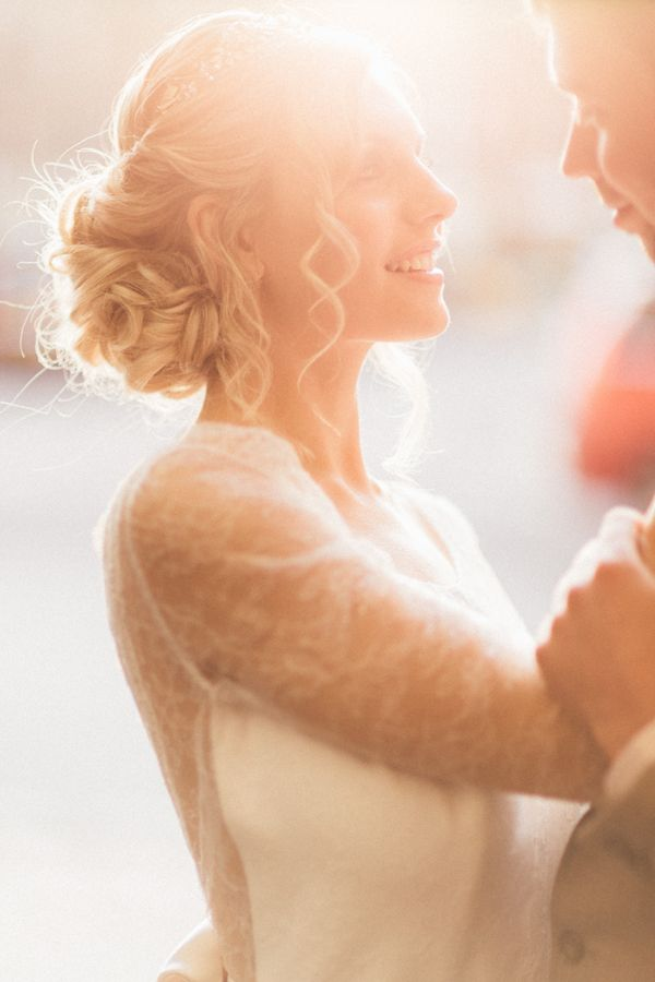 Beautifully Romantic Wedding Hair by Lipstick and Curls | photo by Sanshine Photography