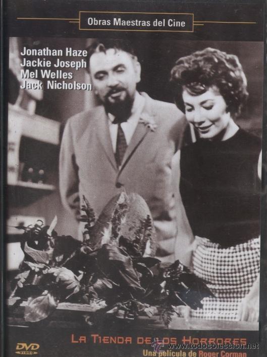 DVD CINE 7 y DVD CINE 318 - La tienda de los horrores (1960) EEUU. Dir.: Robert Corman. Comedia. Terror. Sinopse: Gravis Mushnick dirixe o seu propio negocio, unha humilde floraría situada nun  barrio de Los Ángeles. No pequeno establecemento traballan con el os seus empregados Autrey Fulgurad e o seu namorado Seymur Krelboyne. Un día, Seymour descobre que unha planta que comprou aliméntase de sangue humano.