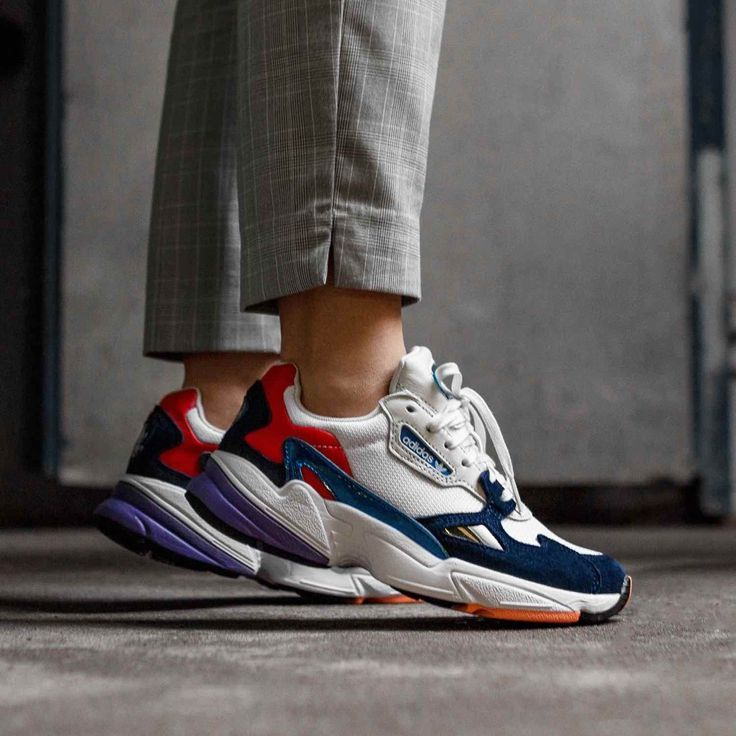 Adidas Falcon White / Blue - Adidas Shoes Sneakers ...
