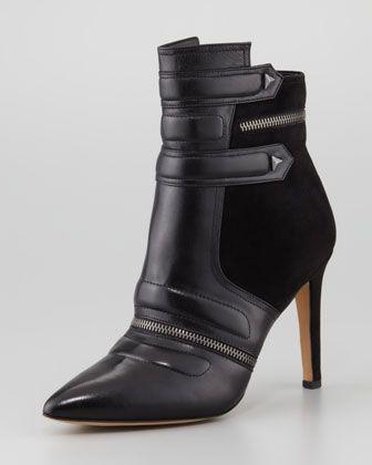 Margo Suede & Leather Bootie, Black by Sam Edelman