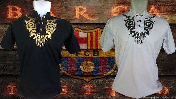 Baju Koko Bola Barcelona