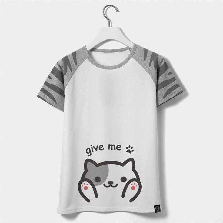 Japanese Anime Print Cat Totoro T Shirt Women Summer T-shirt Female Kawaii Emoji Funny Tshirt Women Graphic Tops Tee Shirt Femme