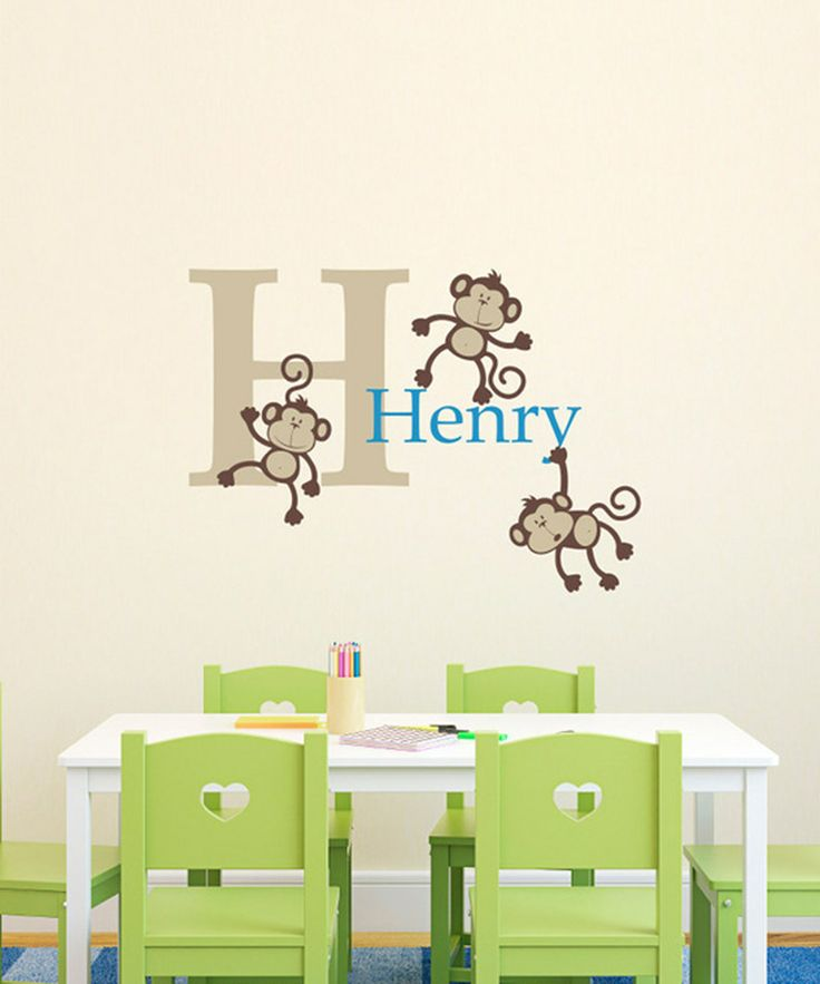Look at this Monkey Personalized Decal on #zulily today!  $19.99