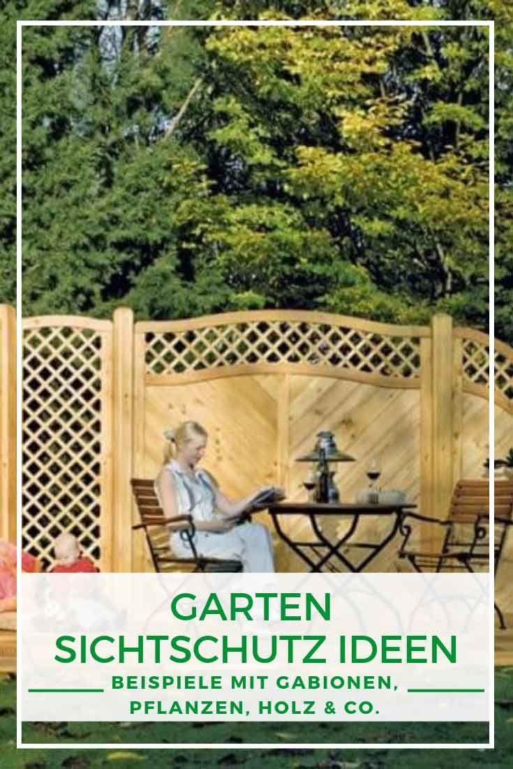 Garten Sichtschutz Ideen Gabionen Pflanzen Holz Co Gabionen Gartengestaltung Sichtschutz Ideen