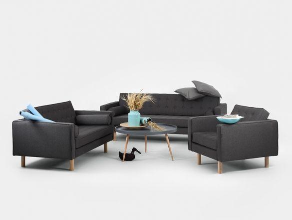 Sofa TOPIC WOOD 3 osobowa | Modern living room set ...