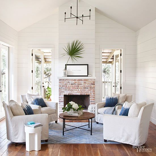 Living Room , Decorating Odd Shaped Living Rooms : Decorating Odd Shaped  Living Rooms With Brick Fireplace And Antler Decor And Flower Vase And Rug Part 65