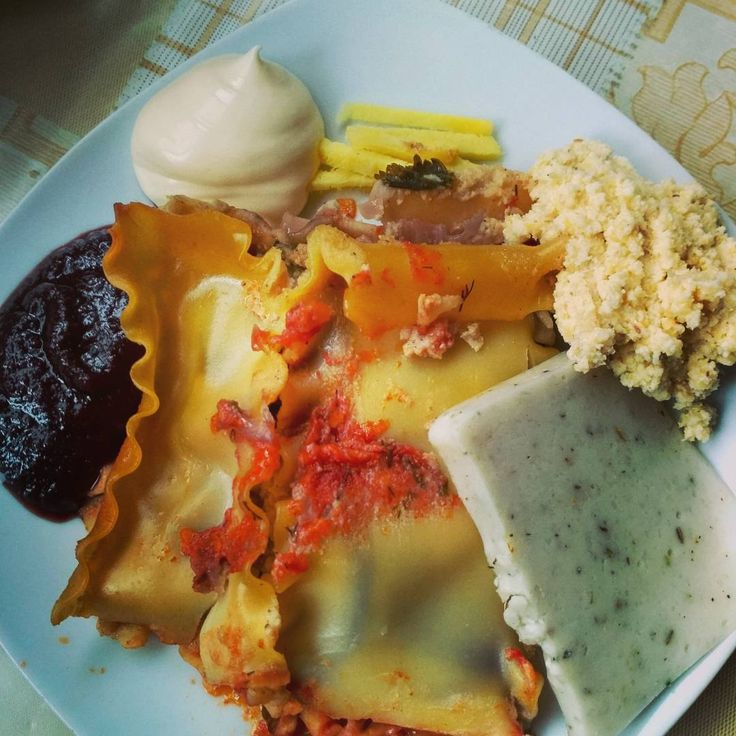 Was my dinner today. #vegan #lasagne , #okara paste, #vegan #mozarella , #veganmayo , ginger root and #blackberry #sauce . All #diy .Who said #veganfood is boring?  #nomeat #plantbased #meatismurder #earthlings #cowspiracy #plantbased #nomeat #веган #vegaani #pma #veganpic