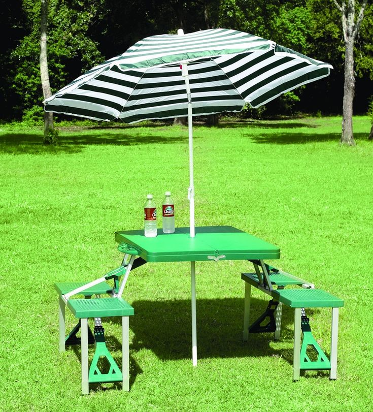 Folding Picnic Table With Umbrella Woodworking Projects