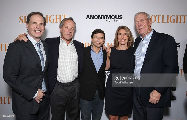 Tom Ortenberg, Chief Executive Officer of Open Road Films, Ben Bradlee Jr., Michael Rezendes, Sacha Pfeiffer and Walter Robinson attend the Screening of Open Roads Films' 'Spotlight' on (November 3, 2015) in Los Angeles, California.