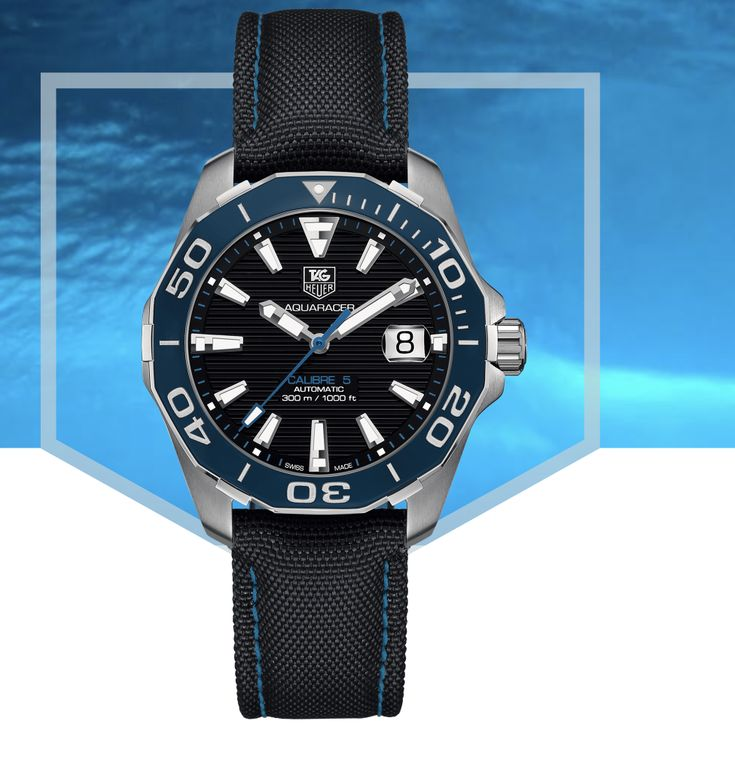 (NEW) Tag Heuer Aquaracer Calibre 5 Blue Dial Automatic Men 43mm Watch