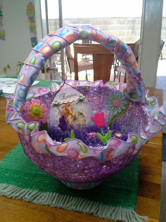 219 best easter baskets images on pinterest easter baskets string sugar easter basket i made myself negle Choice Image