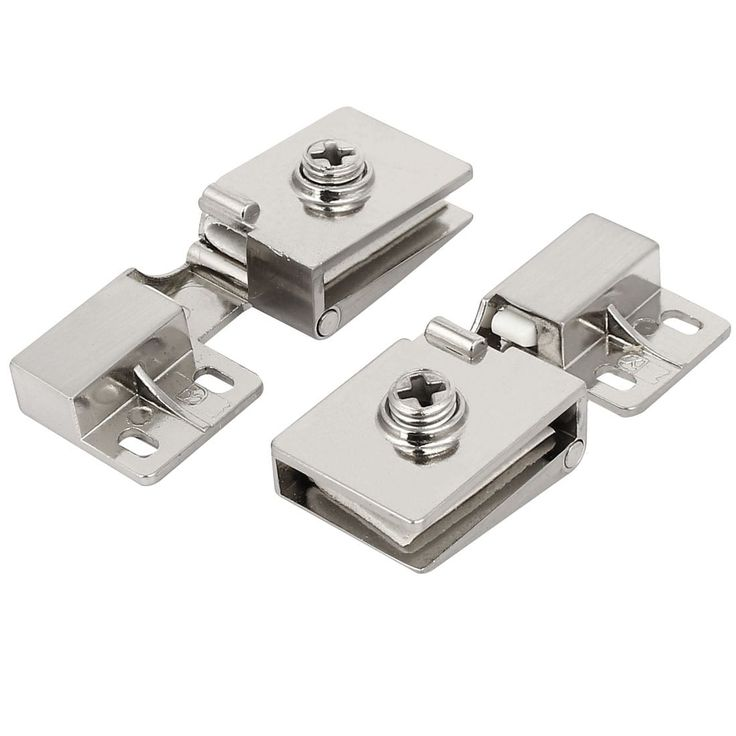Unique Bargains7mm Thickness Metal Wall Mounted Glass Door Hinges Clamps Silver Tone 2pcs