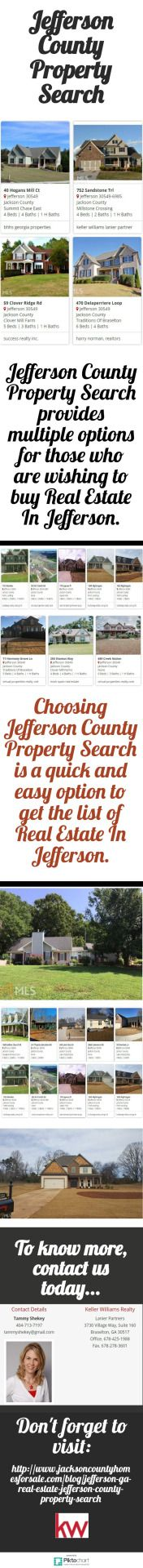 Jefferson County Property Search provides multiple options for those who are wishing to buy Real Estate In Jefferson. For more info, call at: 404-713-7197 or visit:  http://www.jacksoncountyhomesforsale.com/blog/jefferson-ga-real-estate-jefferson-county-property-search