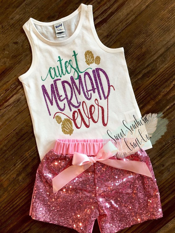 FREE SHIPPING***Cutest Mermaid Ever, Mermaid Hair,Toddler Tank Top,Toddler Racerback,Girl Mermaid Shirt,Beach shirt, Vacation Shirt,Baby by SweetSouthernCraftCo on Etsy