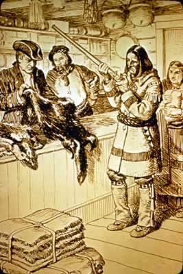 Captain Chauvin made the first organized attempt to control the fur trade in New France. In 1599 he acquired a monopoly from Henry IV and tried to establish a colony at the mouth of the Saguenay River (Tadoussac, Quebec). French explorers (and Coureur des bois—Étienne Brûlé, Samuel de Champlain, Radisson, La Salle, Le Saeur