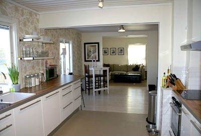 Galley Kitchen Design - ours has a similar space and orientation