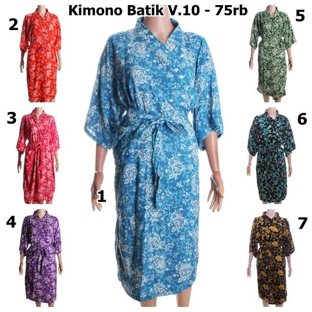 Kimono Batik V.10 Bahan : Shantung / Katun Rayon Tebal Batik : Cap Size : All Size Harga Eceran : 75.000 Harga Grosir : 70.000 (harga grosir berlaku untuk pembelian minimal 3pc, boleh campur dengan model yang lain) ================= Batik Kalyan menjual berbagai macam produk batik. Menerima pemesanan batik untuk seragam kantor, seragam sekolah, seragam acara, dsb. ================= Pemesanan dilayani senin-sabtu pada jam kerja 08.00-16.00 WIB melalui sms atau Whatsapp ke 085225805080