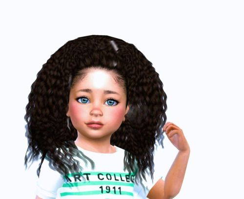 Nouk's Kinky Curly hair for toddlers Download here thank you @monstermadnessworld for the original conversion this is my very first hair conversion so this isn't perfect and I was unable to convert the braid accessory sorry ! Let me know if you have...