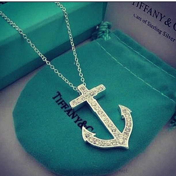 Tiffany and co necklace - I think this necklace is a requirement for all Navy wives!
