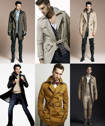 Coat yang cocok dikenakan oleh pria biasanya yaitu disesuaikan dengan gaya serta bentuk tubuh. Jenis coatnya adalah trench coat, pea coat, frock coat, leather coat, dan rain coat.