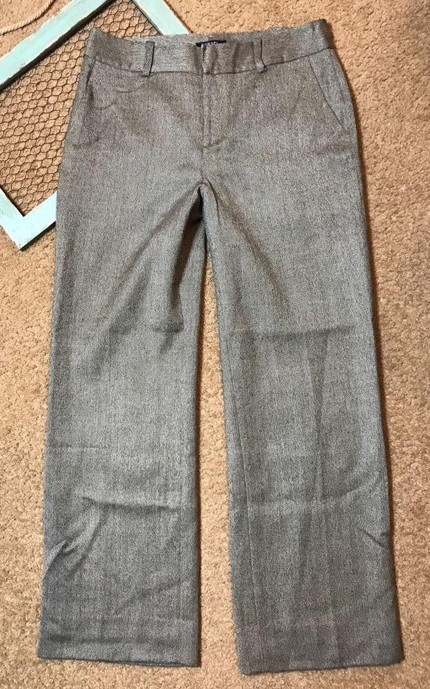 Chaps Womens Size 10 Pants Brown Tweed Business Career Work Uniform  | eBay