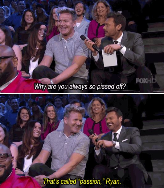 When he explained himself to Ryan Seacrest. | 19 Times Gordon Ramsay Was Absolutely Iconic