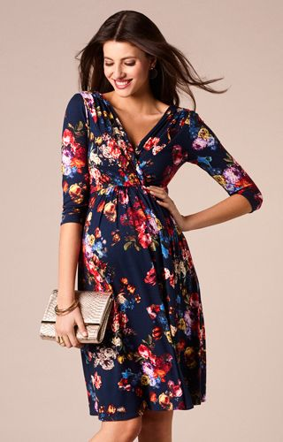Willow Maternity Dress Midnight Garden by Tiffany Rose