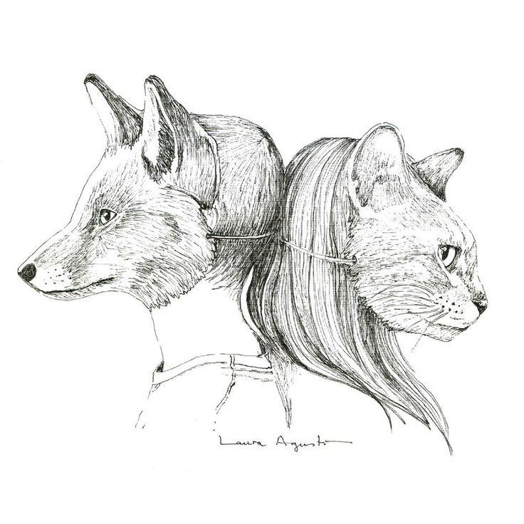 laura-agusti-mr-foxlutton-vs-miss-catstround.jpg (1000×1000)