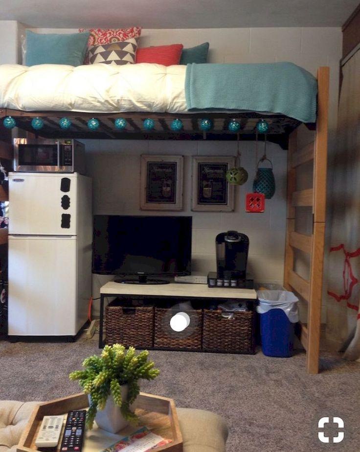 Nice 100+ Cute Loft Beds College Dorm Room Design Ideas For Girl https://roomadness.com/2018/01/30/100-cute-loft-beds-college-dorm-room-design-ideas-girl/
