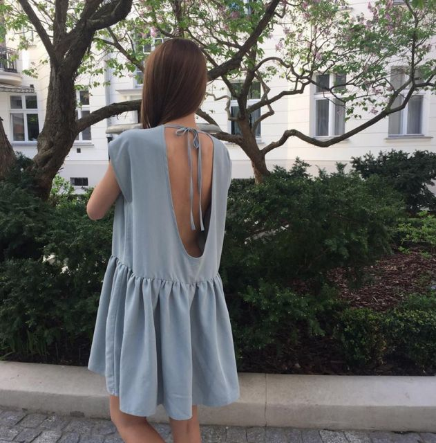 OPEN BACK MINT OVERSIZED DRESS | In Stock | We are crazy about dresses this summer <3 check out them all @ theodderside.com #basic #wear brand