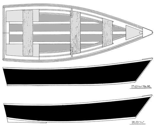 11' - 15' Power-Row Skiffs - flat bottom skiffs-boatdesign ...