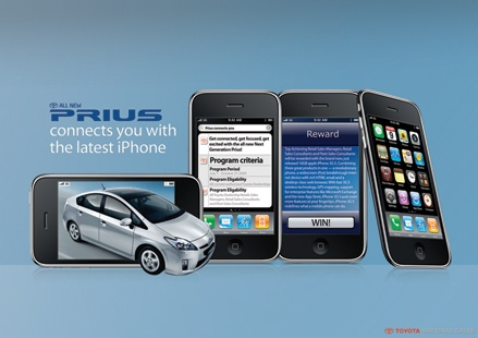creative work for toyota prius