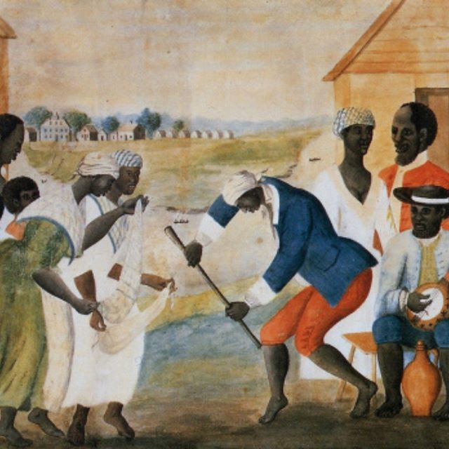Plantation Dance South Carolina circa 1790 featuring banjo and calabash. Image #NW0159 courtesy of the Virgina Foundation for the Humanities.  #history #culture #dance #art  Image found at blog called Infinite Culture. Post title: On The Link Between African And Irish Music  http://ift.tt/2E0ErMu