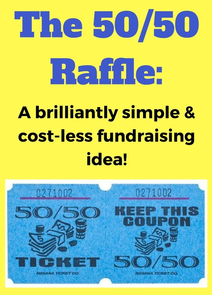 The 50/50 Raffle Fundraiser. A super simple and effective fundraising idea. Check it out: www.rewarding-fundraising-ideas.com/50-50-raffle-fundraiser.html
